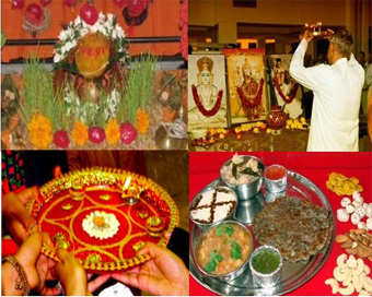 Navratri puja vidhi in English