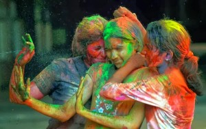 advance holi images for girls colorful