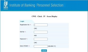 Download IBPS Clerk CRP Score cards