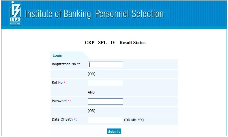 check ibps specialist officer result 2015 so online exam