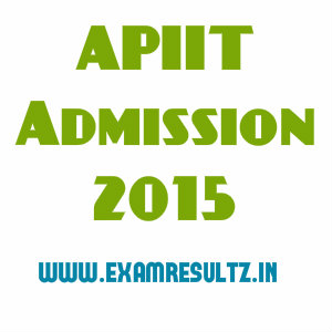 ApIIT 2015 admssion