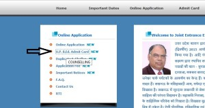 Download UP B.ed JEE Exam 2015 Admit card