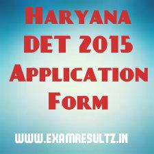 Haryana DET 2015