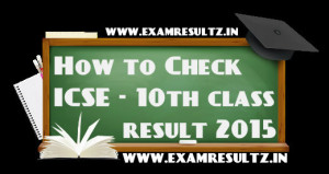 How to check icse 10th result 2015