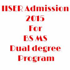 IISER 2015 admission