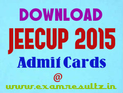 JEECUP 2015 admit card download link for Polytechnic exam