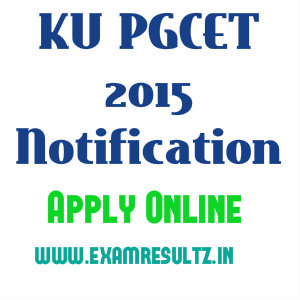 KU PGCET 2015 notification
