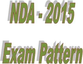 NDA 2015 exam pattern