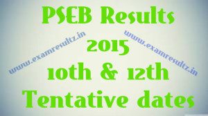 PSEB 10th class result 2015 PSEB 12th results tentative dates
