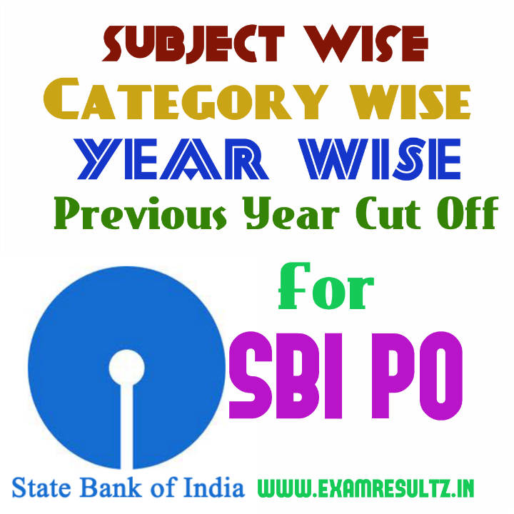SBI PO previous year cut off 2011 2012 2013 2014 score