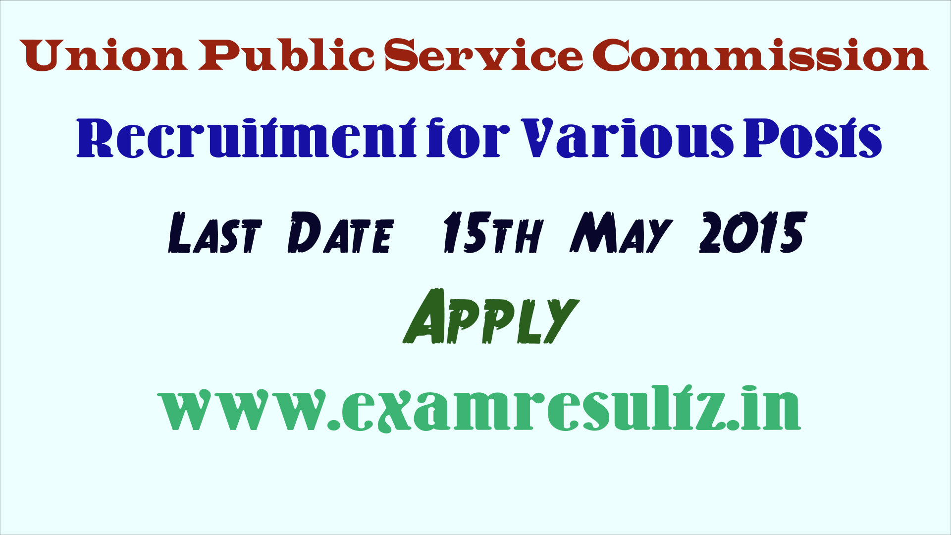 UPSC recruitment online application form www.upsconline.nic.in