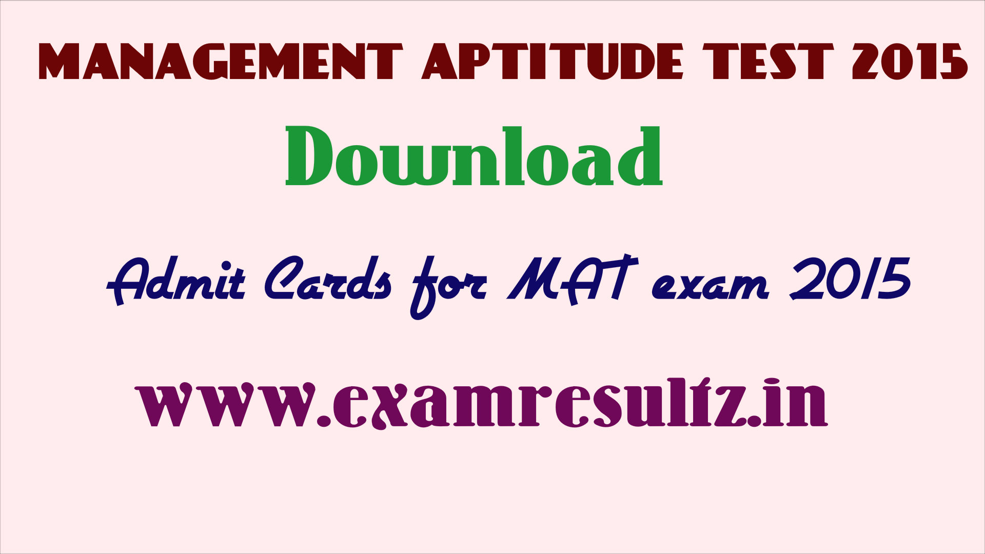 download mat exam 2015 admit card hall ticket