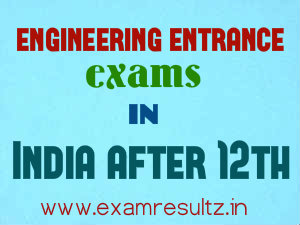 list of engineering entrance exams in india after 12th