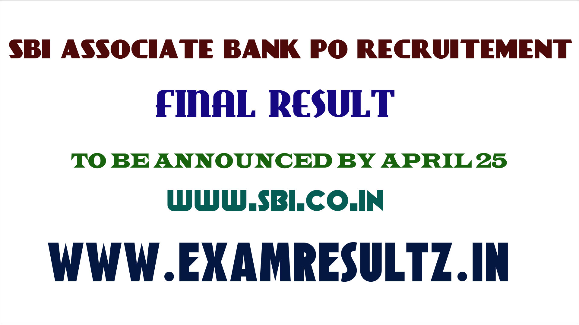 sbi associate bank po recruitment final result check online www.sbi.co.in