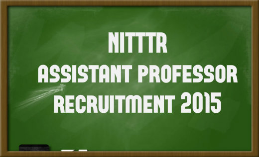 NITTTR assistant professor recruitment 2015