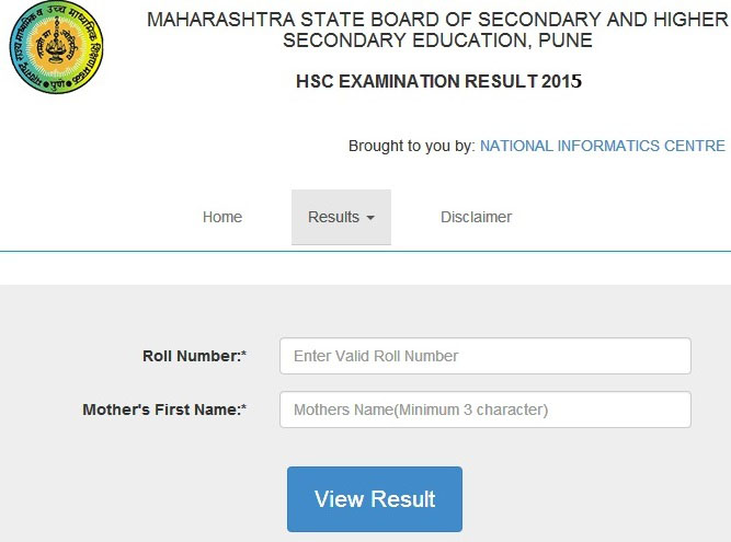 maharashtra board HSC 12th result 2015
