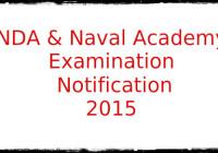 Naval Academy Examination-II 2015 Notification