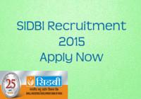 SIDBI Speciailist Officer Grade A and B Recruitment 2015