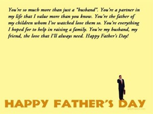 happy father day wishes wife husband