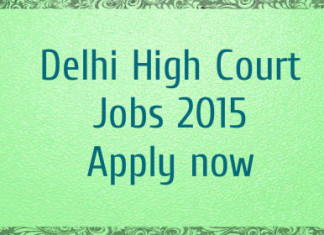 Delhi High Court Junior Judicial Assistant technical posts recruitment 2015