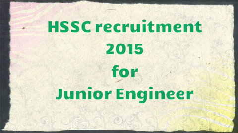 HSSC recruitment 2015