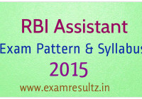 RBI assistant exam pattern and Syllabus 2015
