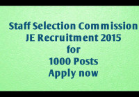 SSC Junior engineer recruitment 2015 application form