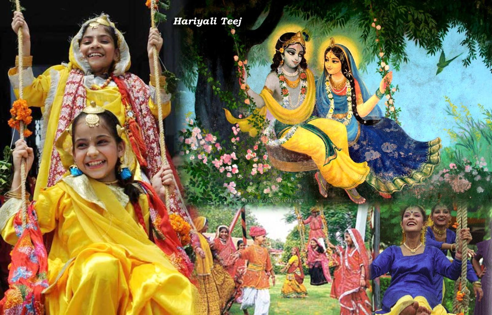 Sawan hariyali teej hd wallpaper images pics shayari dp