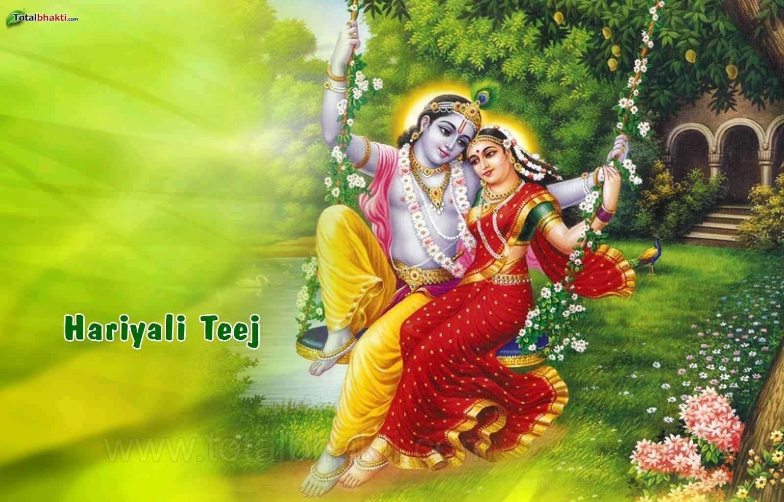 hariyali teej radha krishna green color hd wallpapers facebook whatsapp