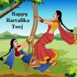 hartalika teej whatsapp dp wallpaper for free download