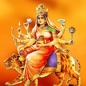 4th navratri goddess Kushmanda whatsapp dp images