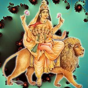 Durga avatar skanda devi wallpaper for whatsapp
