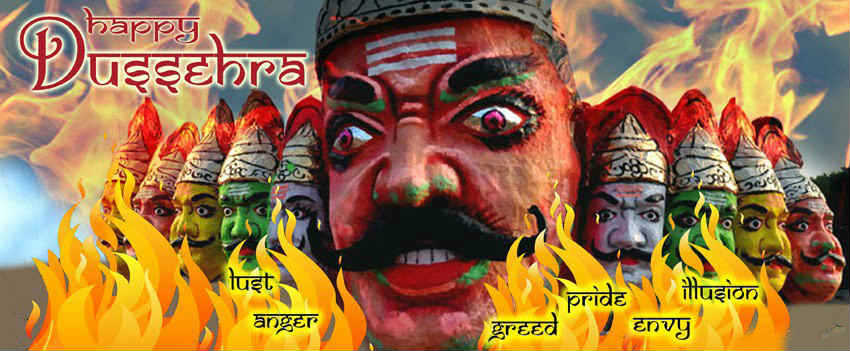 Dussehra burninvg of rama