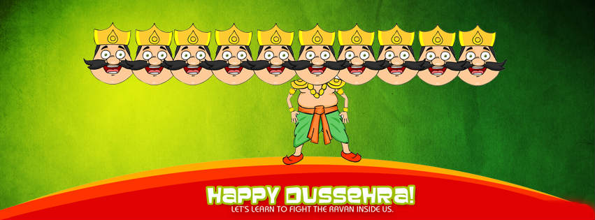 Happy Dussehra Facebook Timeline Cover
