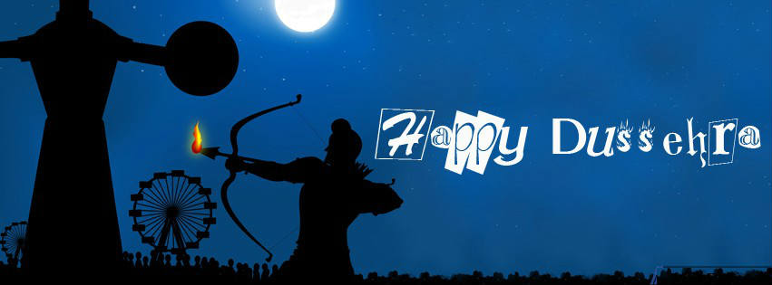 Happy Dussehra Fb Timeline profile cover