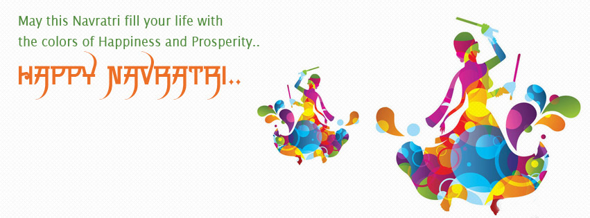 Happy Nav ratri facebook cover wallpaper for free download