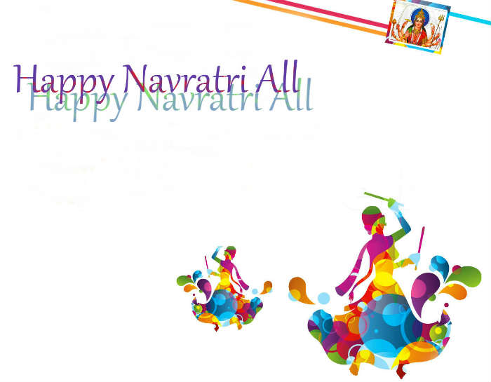 Happy Navratri dandiya raas celebration