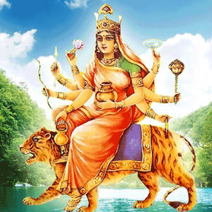 Happy navratri 4th day pictures images of Kushmanda