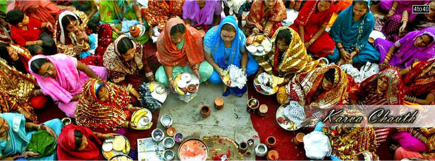 Karva Chauth Puja FB Cover free