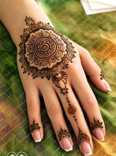 Karva chauth Mehandi design for Back hand for girls, married women