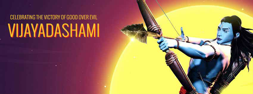 happy dussehra facebook-cover
