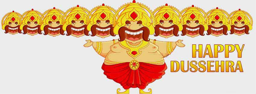 happy dussehra facebook cover