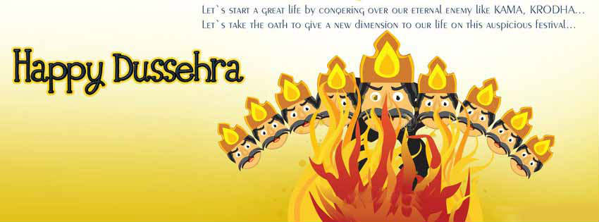 happy dussehra fb cover wallpaper HD