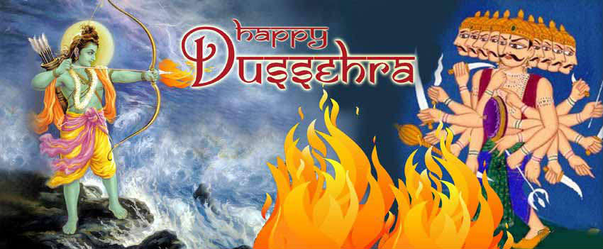 happy dussehra fb cover wallpaper images 851 x 315