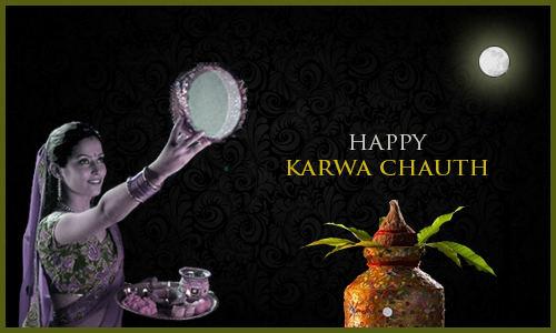 happy karva chauth wallpaper on moon sighting for gf