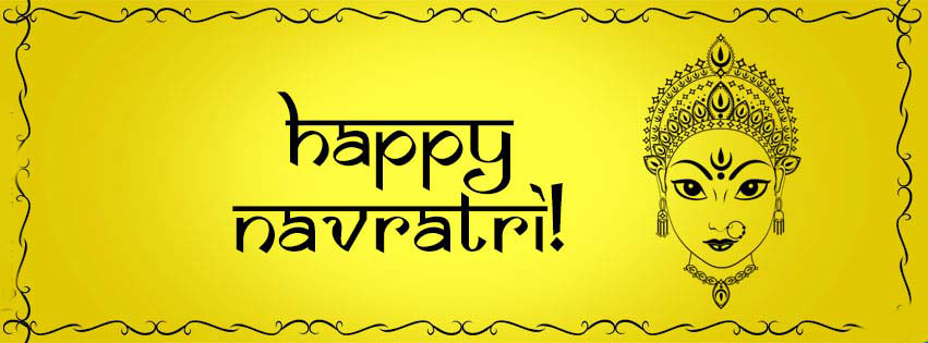 happy navratri facebook cover pics wallpaper