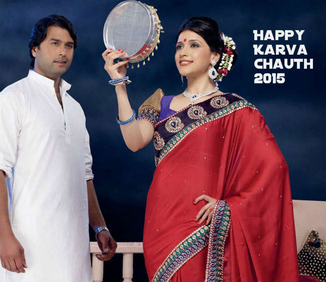 karva chauth couple images moon sighting hd wallpaper