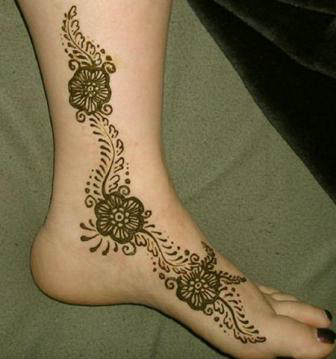 latest Arabic foot ankle mehndi designs for girls and new bridle