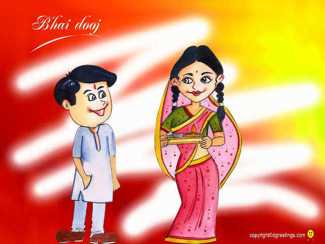 Best Bhai dooj 2015 sms greeting wallpaper images