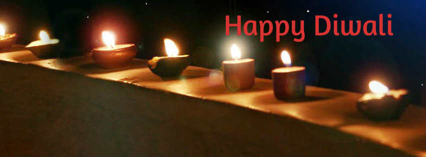 Happy Diwali 2016 Diya fb cover timeline images wallpapers